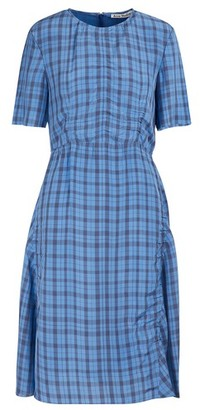 Acne Studios Checkered midi dress