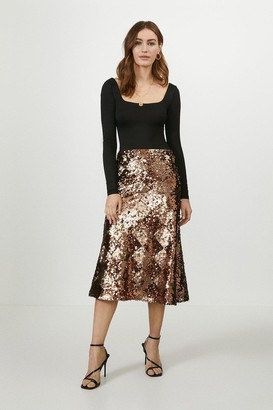 Coast Bias Cut Sequin Skirt