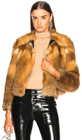 A.L.C. Lex Fur Coat in Neutrals,Orange.