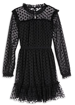 BCBG Girls Girls' Flocked Mesh Dress - Big Kid