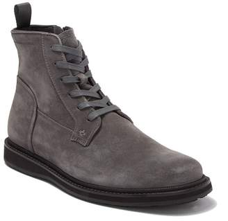 John Varvatos Star Suede Lug Lace Boot