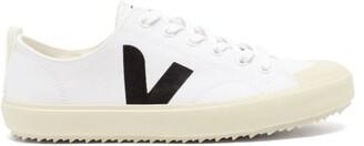 Veja Nova V-logo Canvas Trainers - White Black