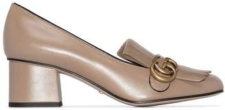Gucci Marmont 55mm fringed pumps