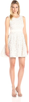 Xscape Evenings Women's Short Scuba Laser Cut Party
