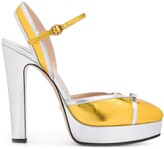 Gucci two-tone bow detail pumps
