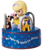 Precious Moments Disney Girl With Mickey And Friends Rotating Musical