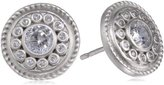 "Freida Rothman HAMPTON"" Sterling Silver and Cubic Zirconia Stud Earrings"