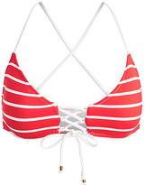Polo Ralph Lauren Striped Lace-Up Bikini Top