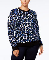 MICHAEL Michael Kors Size Animal-Print Sweater