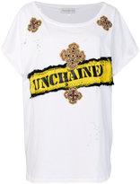 Faith Connexion - t-shirt brodé overs