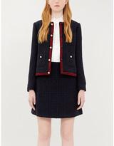 Claudie Pierlot Savanah button-embellished bouclé skirt