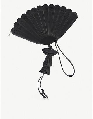 Loewe x Paulas Fan leather clutch