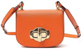 Prada Lock Detail Shoulder Bag