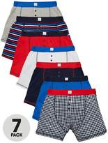 Very Boys Check And Striped Boxer Shorts