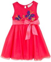 Rare Editions Baby Girls' Sleeveless Butterflies & Mesh Dress