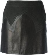 Neil Barrett mini skirt - women - Lamb Skin/Polyester/Polyurethane/Cupro - S