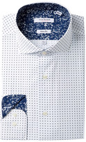 Isaac Mizrahi Printed Dot Slim Fit Dress Shirt