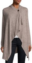 Bobeau Asymmetric Mid-Length One-Button Cardigan