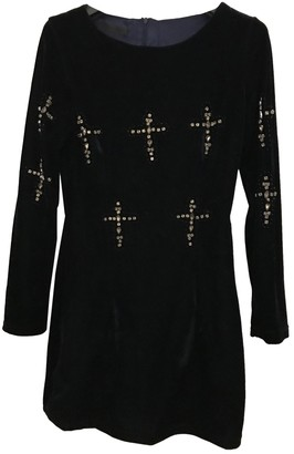 Topshop Tophop Navy Velvet Dress for Women