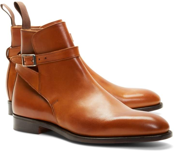 Brooks Brothers Peal & Co. Leather Ankle Strap Buckle Boots