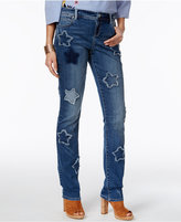 INC International Concepts Star Patch Sunlight Wash Boyfriend Jeans, Only at Macy's