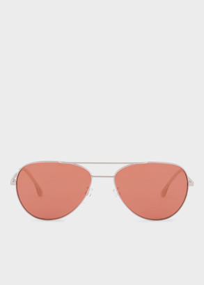 Paul Smith Silver And Rose Crystal 'Angus' Sunglasses