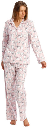 S.O.H.O New York Full Flannel Cat Print Pyjamas