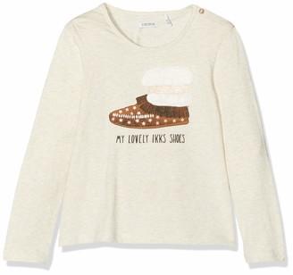 Ikks Junior Girl's Tee Shirt Ml Chaussure Indienne T