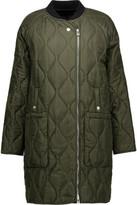 Belstaff Quilted Silk-Satin Coat