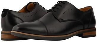 Florsheim Uptown Cap Toe Oxford (Black Leather/Suede) Men's Lace Up Cap Toe Shoes