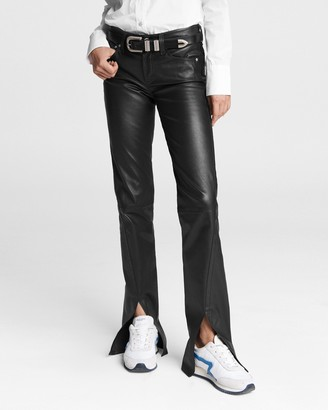Rag & Bone Cate mid-rise leather pant