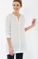 J. Jill Pure Jill Linen & Cotton Crinkled Shirt