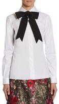 Dolce & Gabbana Grosgrain Bow Poplin Shirt