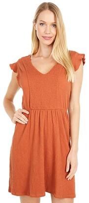 Roxy Morning Breeze Dress (Auburn) Women's Dress