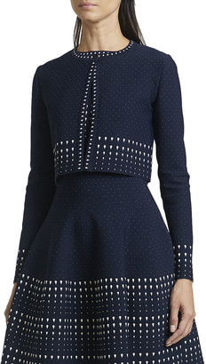 Alaia Dotted Striped Bolero Jacket