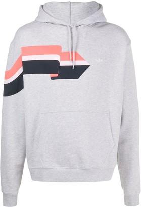 adidas printed long-sleeved hoodie