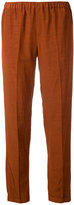 Alberto Biani elastic waist trousers - women - Linen/Flax/Viscose - 44