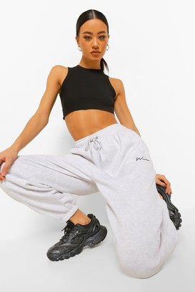 boohoo Woman Embroidered Overszied Fit Joggers