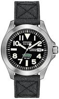 Citizen Bn0110-06e Royal Marines Commando Super Tough Fabric Strap Watch, Black