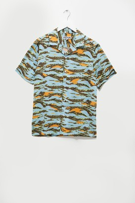 French Connection Camo Short Sleeve Lyocell Shirt