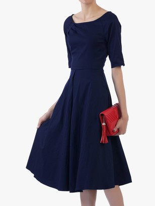 Jolie Moi Scoop Neck Swing Dress