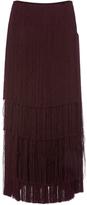 Prabal Gurung Tiered Fringe Skirt