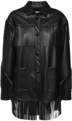 Philosophy di Lorenzo Serafini Fringed Faux Leather Jacket