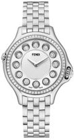 Fendi Crazy Carats Diamond, Multicolor Topaz & Stainless Steel Small Bracelet Watch