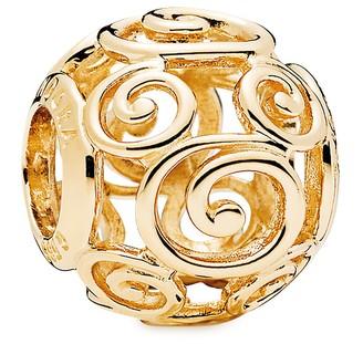 Mickey Mouse Gold Swirl Charm by Pandora Jewelry