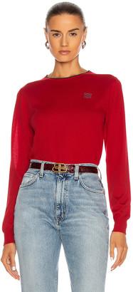 Loewe Anagram Crewneck Sweater in Red Earth | FWRD