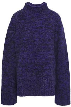By Malene Birger Oversized Melange Cotton-blend Turtleneck Sweater