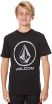 Volcom Boys Faded Stone Tee Black