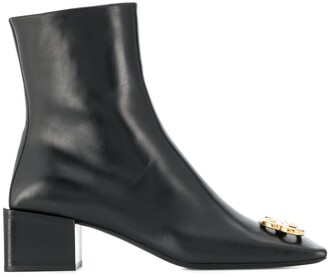 Balenciaga double square BB ankle boots