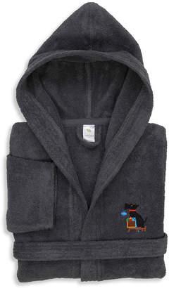 Asstd National Brand Embroidered Linum Kids 100% Turkish Cotton Hooded Unisex Terry Bathrobe - Christmas Dog